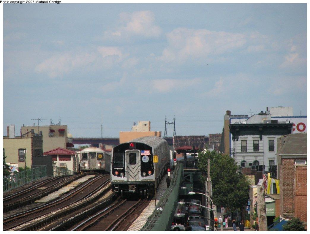(141k, 1044x788)<br><b>Country:</b> United States<br><b>City:</b> New York<br><b>System:</b> New York City Transit<br><b>Line:</b> BMT Astoria Line<br><b>Location:</b> Broadway <br><b>Route:</b> N<br><b>Car:</b> R-160B (Kawasaki, 2005-2008)  8713 <br><b>Photo by:</b> Michael Carrigy<br><b>Date:</b> 8/17/2006<br><b>Viewed (this week/total):</b> 5 / 3458