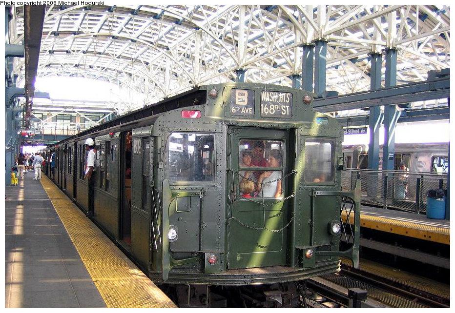(237k, 932x642)<br><b>Country:</b> United States<br><b>City:</b> New York<br><b>System:</b> New York City Transit<br><b>Location:</b> Coney Island/Stillwell Avenue<br><b>Route:</b> Fan Trip<br><b>Car:</b> R-9 (Pressed Steel, 1940)  1802 <br><b>Photo by:</b> Michael Hodurski<br><b>Date:</b> 8/20/2006<br><b>Viewed (this week/total):</b> 0 / 2764
