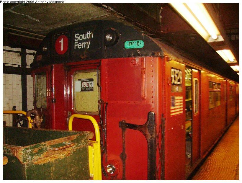 (125k, 820x620)<br><b>Country:</b> United States<br><b>City:</b> New York<br><b>System:</b> New York City Transit<br><b>Line:</b> IRT Lenox Line<br><b>Location:</b> 110th Street/Central Park North <br><b>Route:</b> Work Service<br><b>Car:</b> R-33 World's Fair (St. Louis, 1963-64) 9329 <br><b>Photo by:</b> Anthony Maimone<br><b>Date:</b> 9/7/2006<br><b>Viewed (this week/total):</b> 0 / 4579