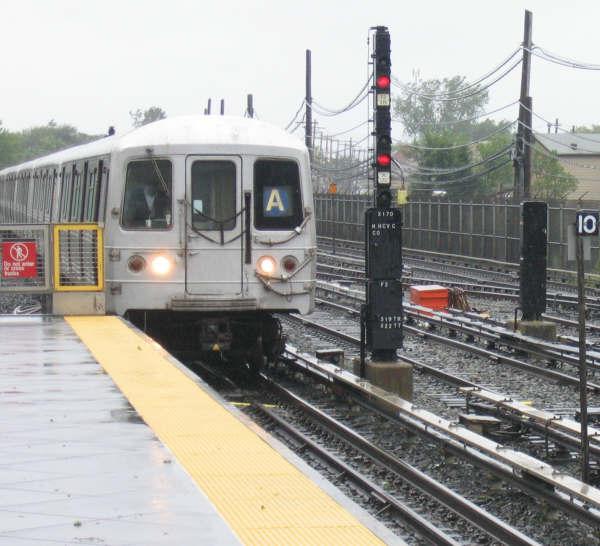 (49k, 600x546)<br><b>Country:</b> United States<br><b>City:</b> New York<br><b>System:</b> New York City Transit<br><b>Line:</b> IND Rockaway<br><b>Location:</b> Howard Beach <br><b>Route:</b> A<br><b>Car:</b> R-44 (St. Louis, 1971-73)  <br><b>Photo by:</b> Professor J<br><b>Date:</b> 9/2/2006<br><b>Viewed (this week/total):</b> 0 / 3671
