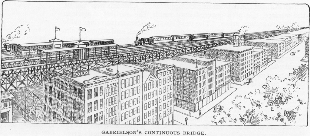 (181k, 1024x451)<br><b>Photo by:</b> Rapid Transit in Great Cities (1891)<br><b>Notes:</b> Gabrielson's Continuous Bridge<br><b>Viewed (this week/total):</b> 3 / 3404