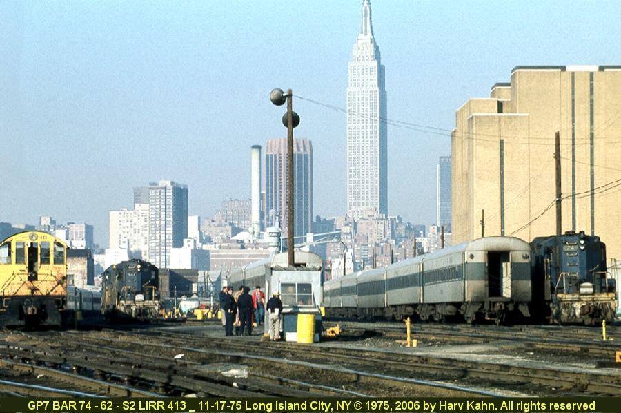 (96k, 900x598)<br><b>Country:</b> United States<br><b>City:</b> New York<br><b>System:</b> Long Island Rail Road<br><b>Line:</b> LIRR Long Island City<br><b>Location:</b> Long Island City <br><b>Photo by:</b> Harv Kahn<br><b>Date:</b> 11/17/1975<br><b>Viewed (this week/total):</b> 2 / 1840