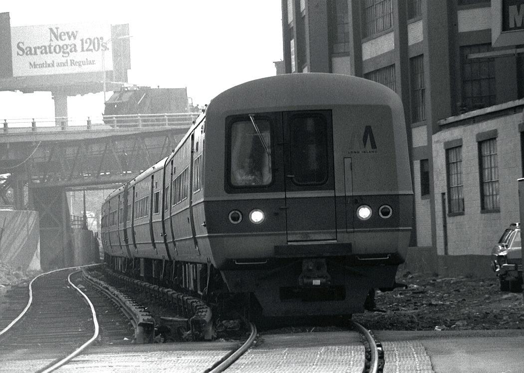 (128k, 1050x748)<br><b>Country:</b> United States<br><b>City:</b> New York<br><b>System:</b> Long Island Rail Road<br><b>Line:</b> LIRR Long Island City<br><b>Location:</b> Long Island City <br><b>Car:</b> LIRR Budd M1 (EMU) 9677 <br><b>Photo by:</b> Harv Kahn<br><b>Date:</b> 5/20/1975<br><b>Viewed (this week/total):</b> 3 / 1826