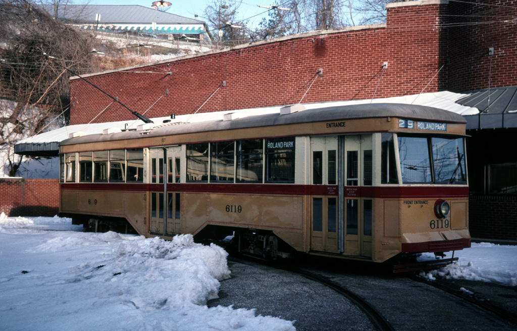 (294k, 1024x656)<br><b>Country:</b> United States<br><b>City:</b> Baltimore, MD<br><b>System:</b> Baltimore Streetcar Museum <br><b>Car:</b>  6119 <br><b>Photo by:</b> Chris Leverett<br><b>Date:</b> 2/6/2000<br><b>Viewed (this week/total):</b> 1 / 1131