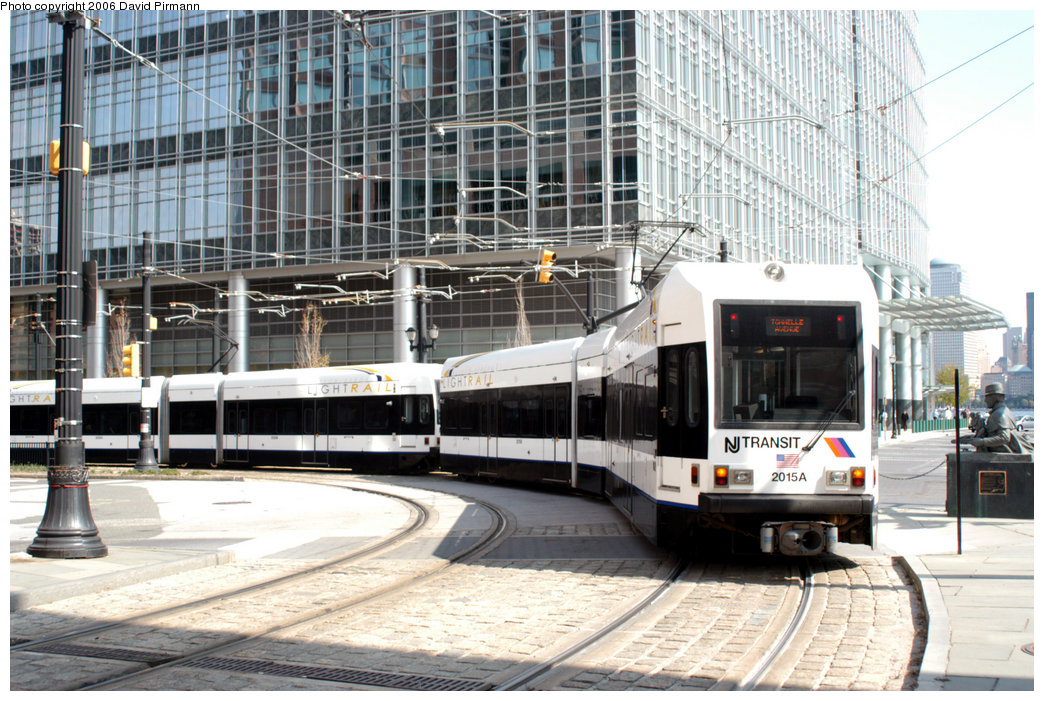 (275k, 1044x701)<br><b>Country:</b> United States<br><b>City:</b> Jersey City, NJ<br><b>System:</b> Hudson Bergen Light Rail<br><b>Location:</b> Essex Street <br><b>Car:</b> NJT-HBLR LRV (Kinki-Sharyo, 1998-99)  2015 <br><b>Photo by:</b> David Pirmann<br><b>Date:</b> 9/28/2006<br><b>Viewed (this week/total):</b> 0 / 1736