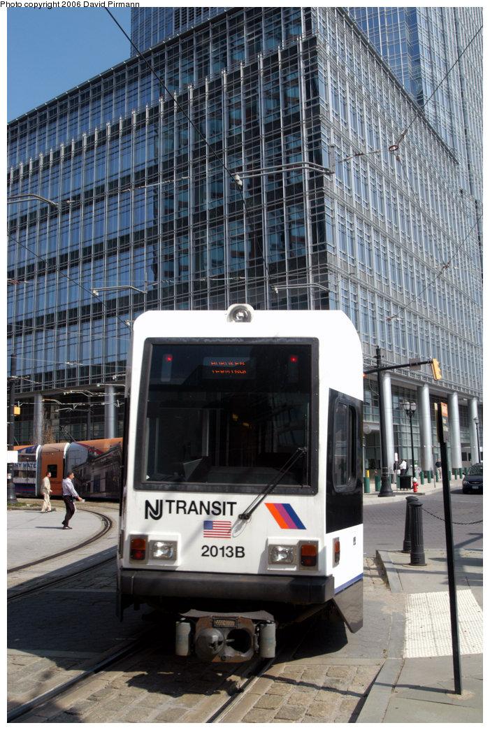 (270k, 701x1044)<br><b>Country:</b> United States<br><b>City:</b> Jersey City, NJ<br><b>System:</b> Hudson Bergen Light Rail<br><b>Location:</b> Essex Street <br><b>Car:</b> NJT-HBLR LRV (Kinki-Sharyo, 1998-99)  2013 <br><b>Photo by:</b> David Pirmann<br><b>Date:</b> 9/28/2006<br><b>Viewed (this week/total):</b> 0 / 1185