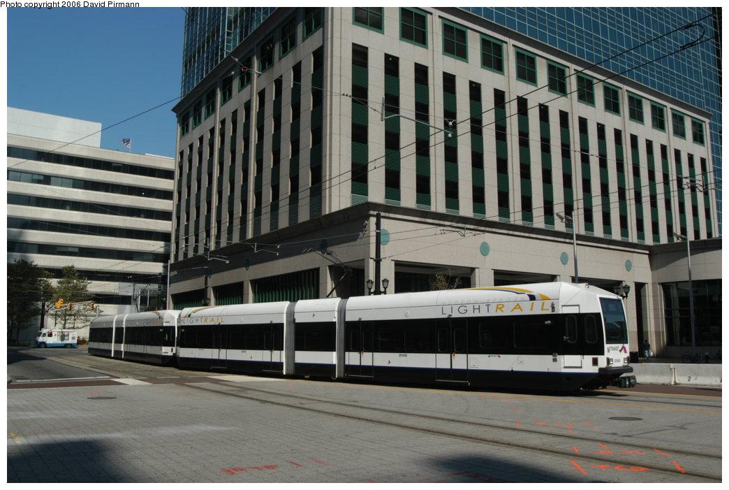 (202k, 1044x701)<br><b>Country:</b> United States<br><b>City:</b> Jersey City, NJ<br><b>System:</b> Hudson Bergen Light Rail<br><b>Location:</b> Exchange Place <br><b>Car:</b> NJT-HBLR LRV (Kinki-Sharyo, 1998-99)  2036 <br><b>Photo by:</b> David Pirmann<br><b>Date:</b> 9/28/2006<br><b>Viewed (this week/total):</b> 0 / 1521