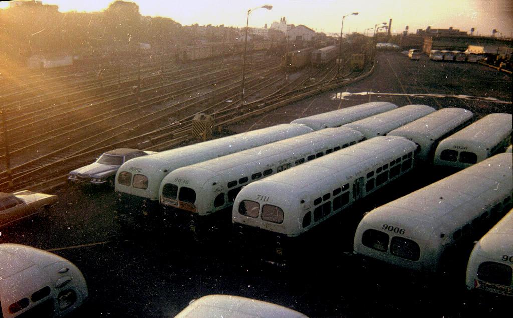 (183k, 1024x636)<br><b>Country:</b> United States<br><b>City:</b> New York<br><b>System:</b> New York City Transit<br><b>Location:</b> 36th Street Yard<br><b>Photo by:</b> Stephen DeLuca<br><b>Date:</b> 9/1972<br><b>Viewed (this week/total):</b> 2 / 1588