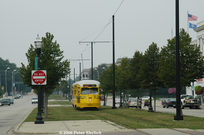 (182k, 864x574)<br><b>Country:</b> United States<br><b>City:</b> Kenosha, WI<br><b>System:</b> Kenosha Electric Railway<br><b>Location:</b> 56th St. & 7th Ave. (Eastbound) <br><b>Car:</b> PCC (TTC Toronto) 4616 <br><b>Photo by:</b> Peter Ehrlich<br><b>Date:</b> 8/26/2006<br><b>Viewed (this week/total):</b> 0 / 2239