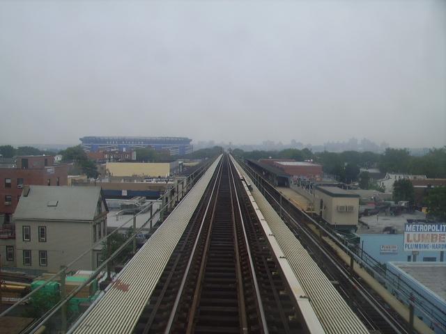 (169k, 640x480)<br><b>Country:</b> United States<br><b>City:</b> New York<br><b>System:</b> New York City Transit<br><b>Line:</b> IRT Flushing Line<br><b>Location:</b> 111th Street <br><b>Photo by:</b> John Czarnecky<br><b>Date:</b> 7/2006<br><b>Notes:</b> View from the express track facing east.<br><b>Viewed (this week/total):</b> 0 / 3739