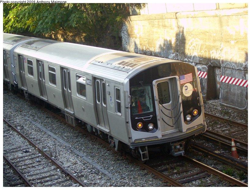 (148k, 820x620)<br><b>Country:</b> United States<br><b>City:</b> New York<br><b>System:</b> New York City Transit<br><b>Line:</b> BMT Sea Beach Line<br><b>Location:</b> 20th Avenue <br><b>Route:</b> Testing.<br><b>Car:</b> R-160A-2 (Alstom, 2005-2008, 5 car sets)  8653 <br><b>Photo by:</b> Anthony Maimone<br><b>Date:</b> 10/4/2006<br><b>Viewed (this week/total):</b> 3 / 2961