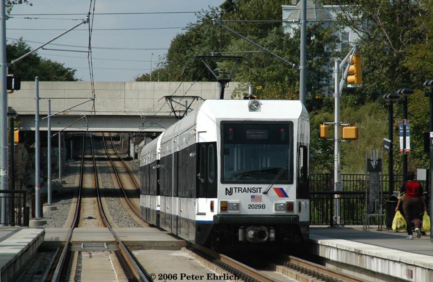 (239k, 864x563)<br><b>Country:</b> United States<br><b>City:</b> Jersey City, NJ<br><b>System:</b> Hudson Bergen Light Rail<br><b>Location:</b> Garfield Avenue <br><b>Car:</b> NJT-HBLR LRV (Kinki-Sharyo, 1998-99)  2029+2023 <br><b>Photo by:</b> Peter Ehrlich<br><b>Date:</b> 9/28/2006<br><b>Viewed (this week/total):</b> 4 / 1696
