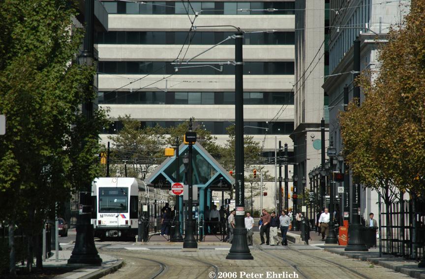 (264k, 864x567)<br><b>Country:</b> United States<br><b>City:</b> Jersey City, NJ<br><b>System:</b> Hudson Bergen Light Rail<br><b>Location:</b> Exchange Place <br><b>Car:</b> NJT-HBLR LRV (Kinki-Sharyo, 1998-99)  2047 <br><b>Photo by:</b> Peter Ehrlich<br><b>Date:</b> 9/28/2006<br><b>Viewed (this week/total):</b> 1 / 1431
