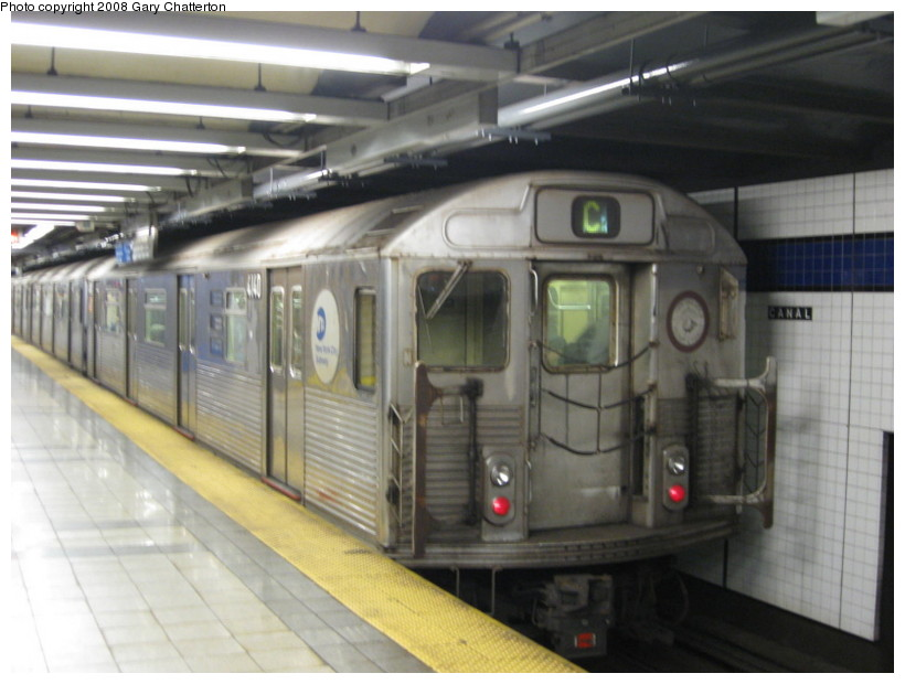 (113k, 820x620)<br><b>Country:</b> United States<br><b>City:</b> New York<br><b>System:</b> New York City Transit<br><b>Line:</b> IND 8th Avenue Line<br><b>Location:</b> Canal Street-Holland Tunnel <br><b>Route:</b> C<br><b>Car:</b> R-38 (St. Louis, 1966-1967)  4140 <br><b>Photo by:</b> Gary Chatterton<br><b>Date:</b> 10/2/2008<br><b>Viewed (this week/total):</b> 0 / 1750