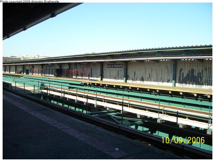 (122k, 820x620)<br><b>Country:</b> United States<br><b>City:</b> New York<br><b>System:</b> New York City Transit<br><b>Line:</b> IRT Brooklyn Line<br><b>Location:</b> Sutter Avenue/Rutland Road <br><b>Photo by:</b> Aliandro Brathwaite<br><b>Date:</b> 10/9/2006<br><b>Viewed (this week/total):</b> 1 / 2679