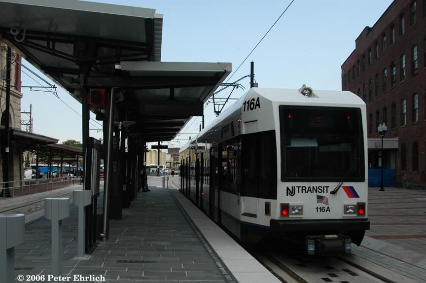 (154k, 864x574)<br><b>Country:</b> United States<br><b>City:</b> Newark, NJ<br><b>System:</b> Newark City Subway<br><b>Location:</b> Broad Street Station <br><b>Car:</b> NJT Kinki-Sharyo LRV (Newark) 116 <br><b>Photo by:</b> Peter Ehrlich<br><b>Date:</b> 9/28/2006<br><b>Viewed (this week/total):</b> 0 / 1706