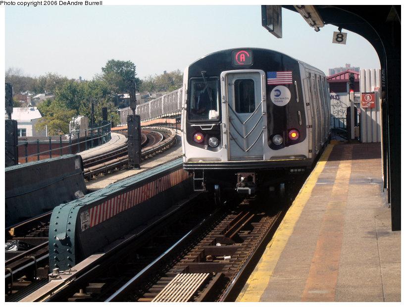 (155k, 820x620)<br><b>Country:</b> United States<br><b>City:</b> New York<br><b>System:</b> New York City Transit<br><b>Line:</b> IND Fulton Street Line<br><b>Location:</b> 80th Street/Hudson Street <br><b>Route:</b> A<br><b>Car:</b> R-160B (Kawasaki, 2005-2008)  8713 <br><b>Photo by:</b> DeAndre Burrell<br><b>Date:</b> 10/7/2006<br><b>Viewed (this week/total):</b> 0 / 4072