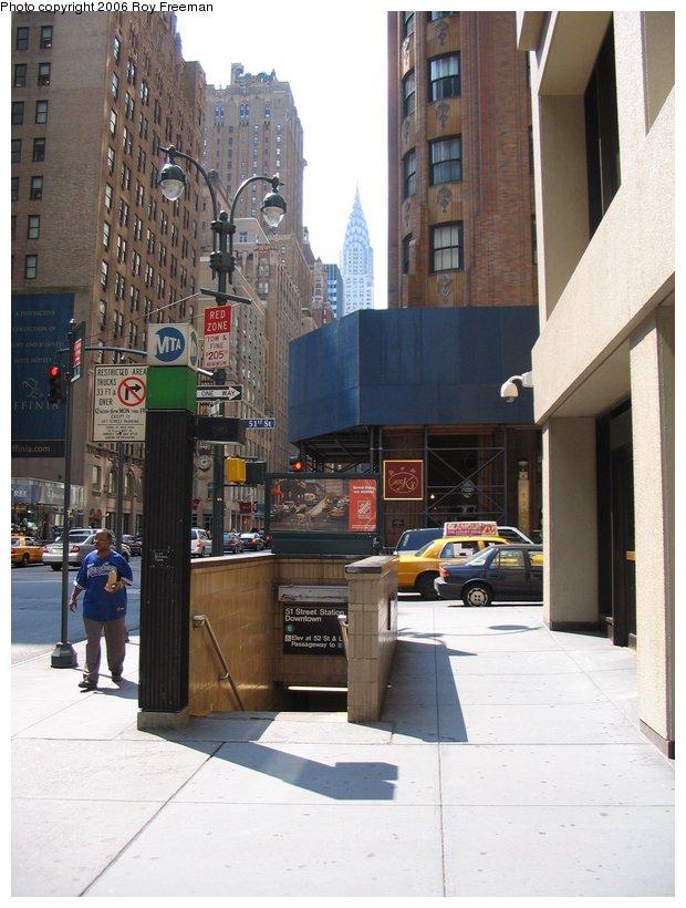 (103k, 620x820)<br><b>Country:</b> United States<br><b>City:</b> New York<br><b>System:</b> New York City Transit<br><b>Line:</b> IRT East Side Line<br><b>Location:</b> 51st Street <br><b>Photo by:</b> Roy Freeman<br><b>Date:</b> 9/10/2006<br><b>Notes:</b> Station entrance Lex & 51st.<br><b>Viewed (this week/total):</b> 1 / 2424