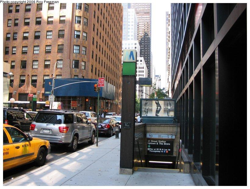 (123k, 820x620)<br><b>Country:</b> United States<br><b>City:</b> New York<br><b>System:</b> New York City Transit<br><b>Line:</b> IRT East Side Line<br><b>Location:</b> 51st Street <br><b>Photo by:</b> Roy Freeman<br><b>Date:</b> 9/10/2006<br><b>Notes:</b> Station entrance Lex & 51st.<br><b>Viewed (this week/total):</b> 1 / 2947