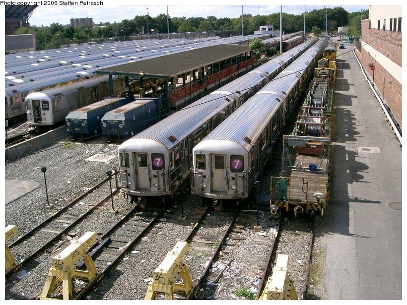 (205k, 820x615)<br><b>Country:</b> United States<br><b>City:</b> New York<br><b>System:</b> New York City Transit<br><b>Location:</b> Corona Yard<br><b>Car:</b> R-62A (Bombardier, 1984-1987)  2084 <br><b>Photo by:</b> Steffen Petrasch<br><b>Date:</b> 9/25/2006<br><b>Viewed (this week/total):</b> 4 / 2139