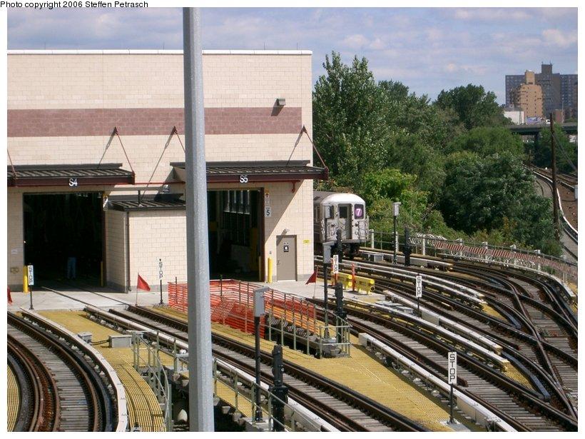 (173k, 820x615)<br><b>Country:</b> United States<br><b>City:</b> New York<br><b>System:</b> New York City Transit<br><b>Location:</b> Corona Yard<br><b>Photo by:</b> Steffen Petrasch<br><b>Date:</b> 9/25/2006<br><b>Notes:</b> New shop building.<br><b>Viewed (this week/total):</b> 1 / 1326