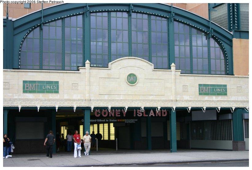 (99k, 820x554)<br><b>Country:</b> United States<br><b>City:</b> New York<br><b>System:</b> New York City Transit<br><b>Location:</b> Coney Island/Stillwell Avenue<br><b>Photo by:</b> Steffen Petrasch<br><b>Date:</b> 9/24/2006<br><b>Notes:</b> Close-up on remodeled station entrance.<br><b>Viewed (this week/total):</b> 1 / 1747