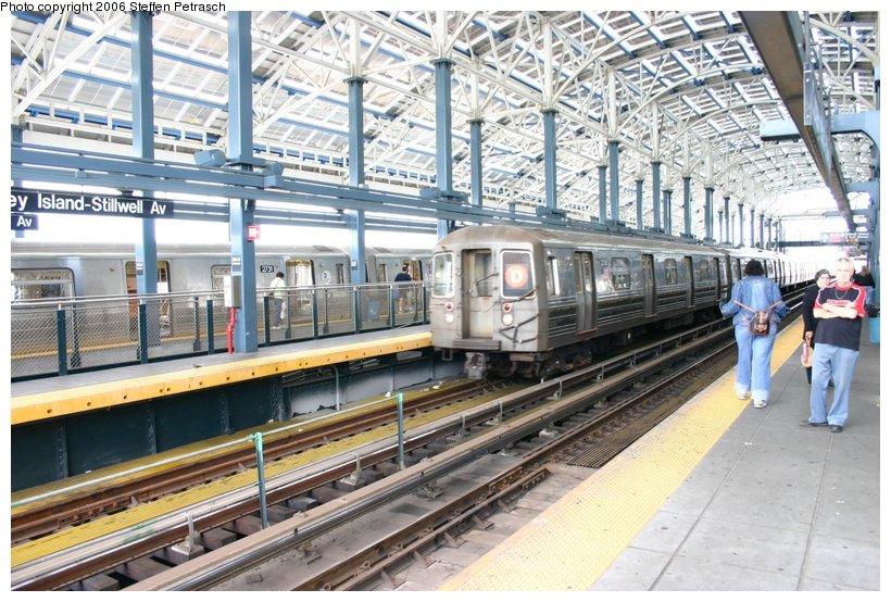 (149k, 820x554)<br><b>Country:</b> United States<br><b>City:</b> New York<br><b>System:</b> New York City Transit<br><b>Location:</b> Coney Island/Stillwell Avenue<br><b>Route:</b> D<br><b>Car:</b> R-68 (Westinghouse-Amrail, 1986-1988)  2738 <br><b>Photo by:</b> Steffen Petrasch<br><b>Date:</b> 9/24/2006<br><b>Viewed (this week/total):</b> 1 / 2746