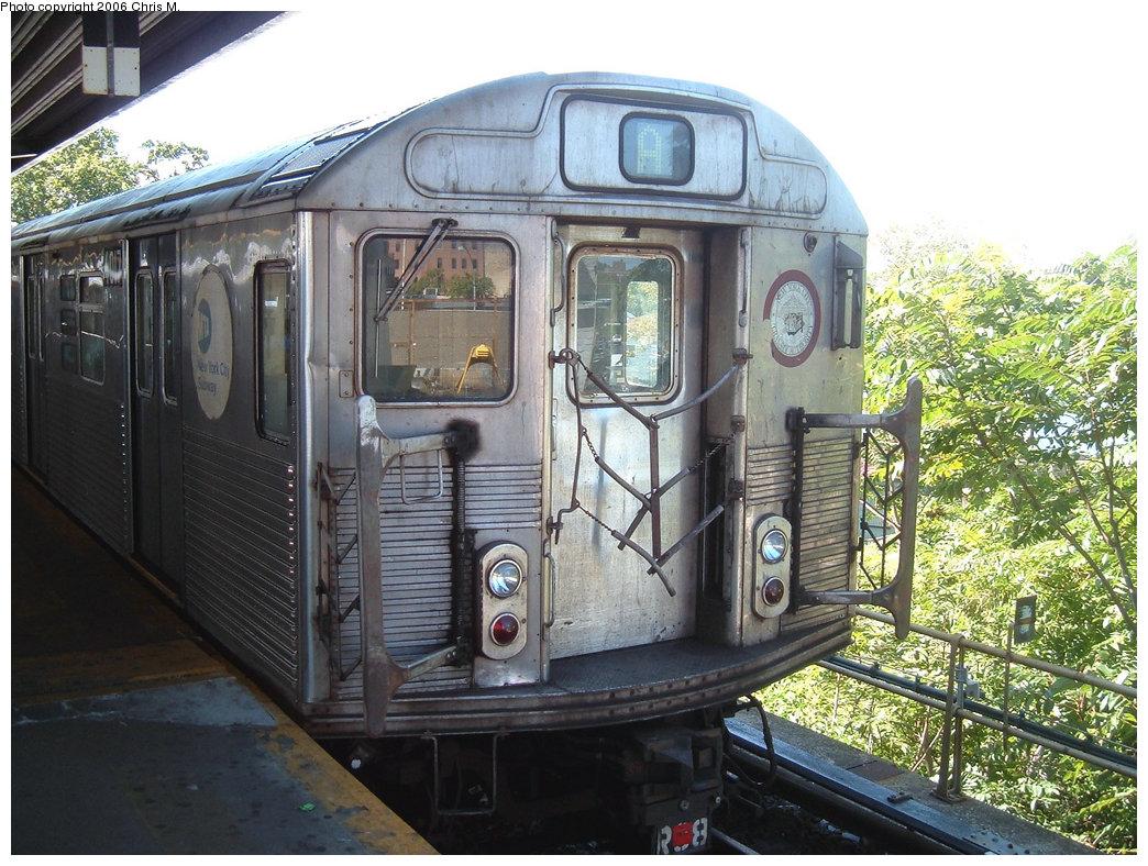 (263k, 1044x788)<br><b>Country:</b> United States<br><b>City:</b> New York<br><b>System:</b> New York City Transit<br><b>Line:</b> IND Rockaway<br><b>Location:</b> Mott Avenue/Far Rockaway <br><b>Route:</b> A<br><b>Car:</b> R-38 (St. Louis, 1966-1967)  4017 <br><b>Photo by:</b> Chris M.<br><b>Date:</b> 9/16/2006<br><b>Viewed (this week/total):</b> 0 / 2267