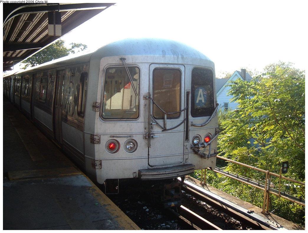 (243k, 1044x788)<br><b>Country:</b> United States<br><b>City:</b> New York<br><b>System:</b> New York City Transit<br><b>Line:</b> IND Rockaway Line<br><b>Location:</b> Mott Avenue/Far Rockaway<br><b>Route:</b> A<br><b>Car:</b> R-44 (St. Louis, 1971-73)  <br><b>Photo by:</b> Chris M.<br><b>Date:</b> 9/16/2006<br><b>Viewed (this week/total):</b> 0 / 2358
