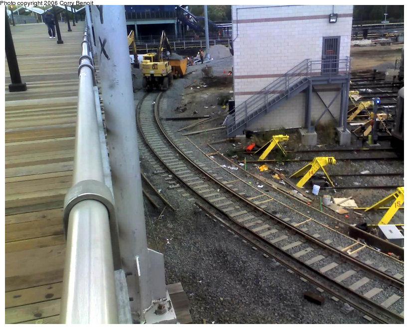 (162k, 820x660)<br><b>Country:</b> United States<br><b>City:</b> New York<br><b>System:</b> New York City Transit<br><b>Location:</b> Corona Yard<br><b>Photo by:</b> Corry Benoit<br><b>Date:</b> 10/26/2006<br><b>Notes:</b> Construction of new loop track at Corona Yard.<br><b>Viewed (this week/total):</b> 1 / 1423