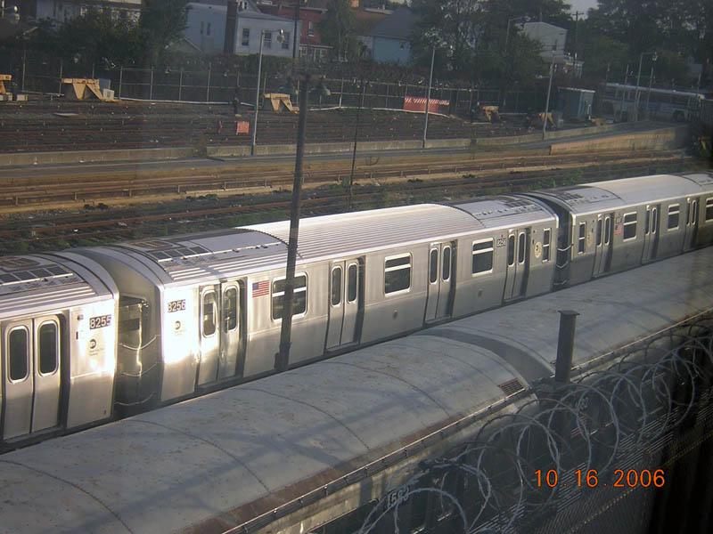 (104k, 800x600)<br><b>Country:</b> United States<br><b>City:</b> New York<br><b>System:</b> New York City Transit<br><b>Location:</b> Rockaway Parkway (Canarsie) Yard<br><b>Car:</b> R-143 (Kawasaki, 2001-2002) 8256 <br><b>Photo by:</b> Robert Mencher<br><b>Date:</b> 10/16/2006<br><b>Viewed (this week/total):</b> 0 / 2484
