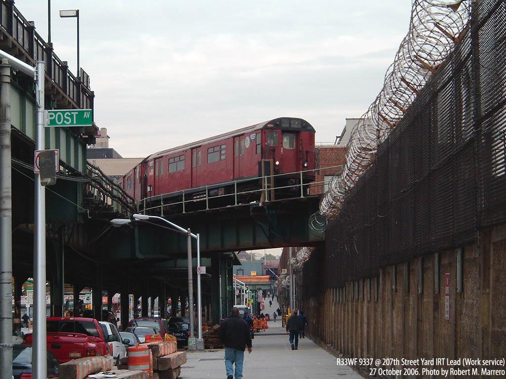 (186k, 1024x768)<br><b>Country:</b> United States<br><b>City:</b> New York<br><b>System:</b> New York City Transit<br><b>Location:</b> 207th Street Yard<br><b>Route:</b> Work Service<br><b>Car:</b> R-33 World's Fair (St. Louis, 1963-64) 9337 <br><b>Photo by:</b> Robert Marrero<br><b>Date:</b> 10/27/2006<br><b>Viewed (this week/total):</b> 1 / 4281