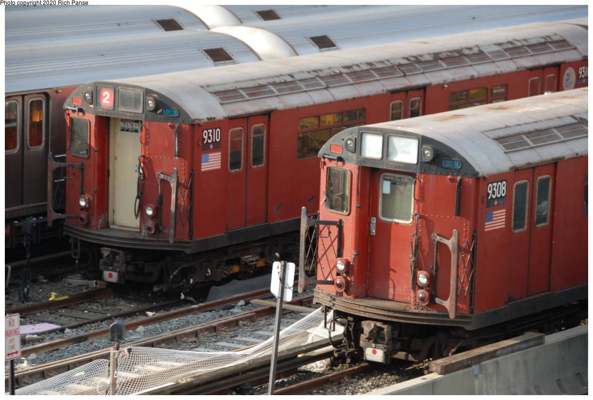 (188k, 1044x705)<br><b>Country:</b> United States<br><b>City:</b> New York<br><b>System:</b> New York City Transit<br><b>Location:</b> Corona Yard<br><b>Car:</b> R-33 World's Fair (St. Louis, 1963-64) 9308 <br><b>Photo by:</b> Richard Panse<br><b>Date:</b> 10/22/2006<br><b>Viewed (this week/total):</b> 5 / 1920