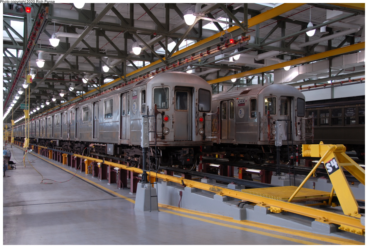 (217k, 1044x705)<br><b>Country:</b> United States<br><b>City:</b> New York<br><b>System:</b> New York City Transit<br><b>Location:</b> Corona Shops<br><b>Car:</b> R-62A (Bombardier, 1984-1987)  1795 <br><b>Photo by:</b> Richard Panse<br><b>Date:</b> 10/22/2006<br><b>Viewed (this week/total):</b> 1 / 2102