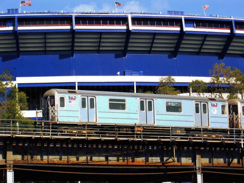 (144k, 820x615)<br><b>Country:</b> United States<br><b>City:</b> New York<br><b>System:</b> New York City Transit<br><b>Line:</b> IRT Flushing Line<br><b>Location:</b> Willets Point/Mets (fmr. Shea Stadium) <br><b>Route:</b> 7<br><b>Car:</b> R-62A (Bombardier, 1984-1987)  1776 <br><b>Photo by:</b> Gary Chatterton<br><b>Date:</b> 10/21/2006<br><b>Viewed (this week/total):</b> 0 / 2450
