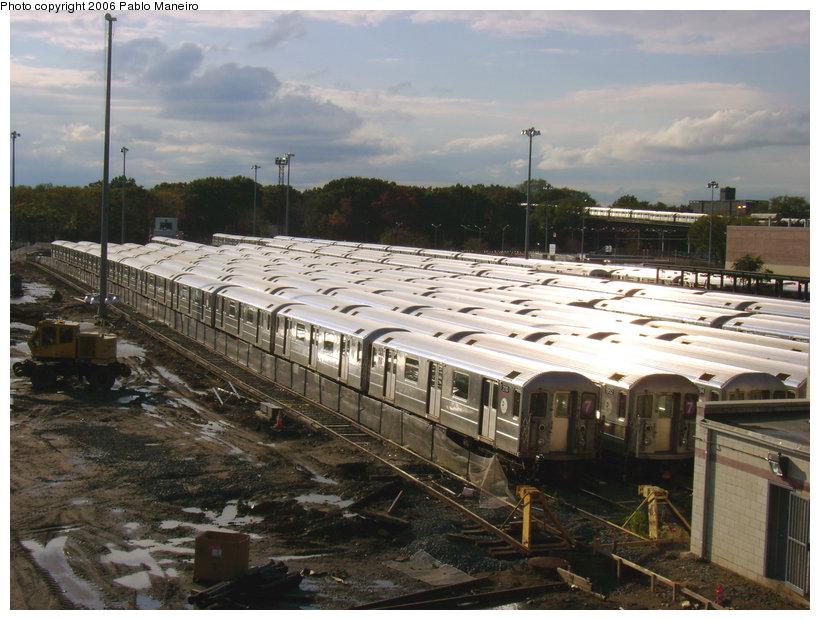 (156k, 820x620)<br><b>Country:</b> United States<br><b>City:</b> New York<br><b>System:</b> New York City Transit<br><b>Location:</b> Corona Yard<br><b>Car:</b> R-62A (Bombardier, 1984-1987)  2110 <br><b>Photo by:</b> Pablo Maneiro<br><b>Date:</b> 10/28/2006<br><b>Viewed (this week/total):</b> 0 / 2406