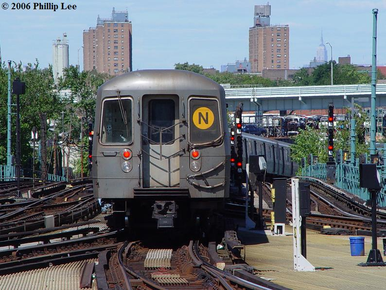 (114k, 794x596)<br><b>Country:</b> United States<br><b>City:</b> New York<br><b>System:</b> New York City Transit<br><b>Location:</b> Coney Island/Stillwell Avenue<br><b>Route:</b> N<br><b>Car:</b> R-68A (Kawasaki, 1988-1989)   <br><b>Photo by:</b> Phillip Lee<br><b>Date:</b> 9/11/2006<br><b>Viewed (this week/total):</b> 1 / 3227