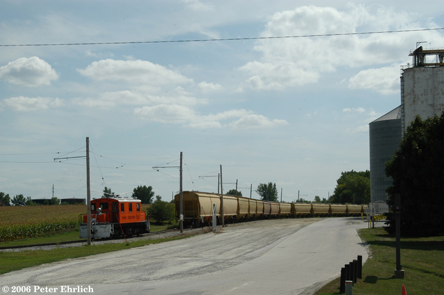 (131k, 864x574)<br><b>Country:</b> United States<br><b>City:</b> Mason City, IA<br><b>System:</b> Iowa Traction<br><b>Location:</b> Iowa Traction--AGP Soybean/S. 19th Street/UP and IC&E Interchange Area<br><b>Car:</b>  54 <br><b>Photo by:</b> Peter Ehrlich<br><b>Date:</b> 9/1/2006<br><b>Notes:</b> On the AGP spur.<br><b>Viewed (this week/total):</b> 0 / 1231