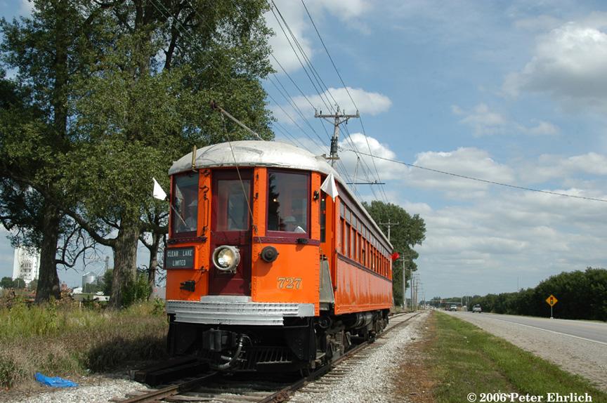 (248k, 864x574)<br><b>Country:</b> United States<br><b>City:</b> Mason City, IA<br><b>System:</b> Iowa Traction<br><b>Location:</b> Iowa Traction--AGP Soybean/S. 19th Street/UP and IC&E Interchange Area<br><b>Car:</b>  727 <br><b>Photo by:</b> Peter Ehrlich<br><b>Date:</b> 9/1/2006<br><b>Notes:</b> West of S. 19th Street/Eisenhower Blvd.<br><b>Viewed (this week/total):</b> 1 / 1380