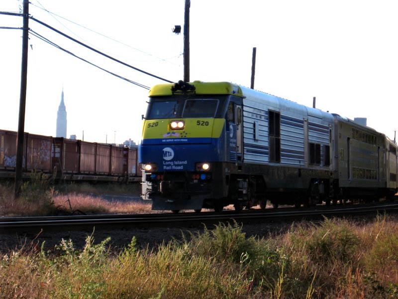 (101k, 800x600)<br><b>Country:</b> United States<br><b>City:</b> New York<br><b>System:</b> Long Island Rail Road<br><b>Line:</b> LIRR Long Island City<br><b>Location:</b> Maspeth Avenue <br><b>Car:</b> LIRR GM DM30AC (Dual Mode)  519 <br><b>Photo by:</b> Gary Chatterton<br><b>Date:</b> 10/13/2006<br><b>Viewed (this week/total):</b> 0 / 1286