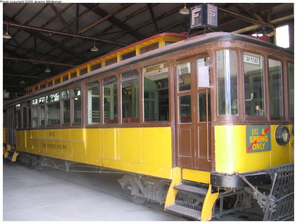 (165k, 1044x788)<br><b>Country:</b> United States<br><b>City:</b> Perris, CA<br><b>System:</b> Orange Empire Railway Museum <br><b>Car:</b>  665 <br><b>Photo by:</b> Jeremy Whiteman<br><b>Date:</b> 5/28/2006<br><b>Viewed (this week/total):</b> 1 / 1170