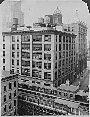 (124k, 382x500)<br><b>Country:</b> United States<br><b>City:</b> New York<br><b>System:</b> New York City Transit<br><b>Line:</b> BMT Myrtle Avenue Line<br><b>Location:</b> Adams Street <br><b>Collection of:</b> Brooklyn Public Library (via Herbert Maruska)<br><b>Viewed (this week/total):</b> 7 / 3342