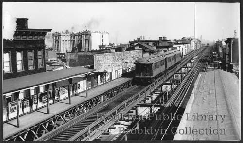 (33k, 500x296)<br><b>Country:</b> United States<br><b>City:</b> New York<br><b>System:</b> New York City Transit<br><b>Line:</b> BMT Myrtle Avenue Line<br><b>Location:</b> Grand Avenue <br><b>Collection of:</b> Brooklyn Public Library (via Herbert Maruska)<br><b>Viewed (this week/total):</b> 0 / 2642