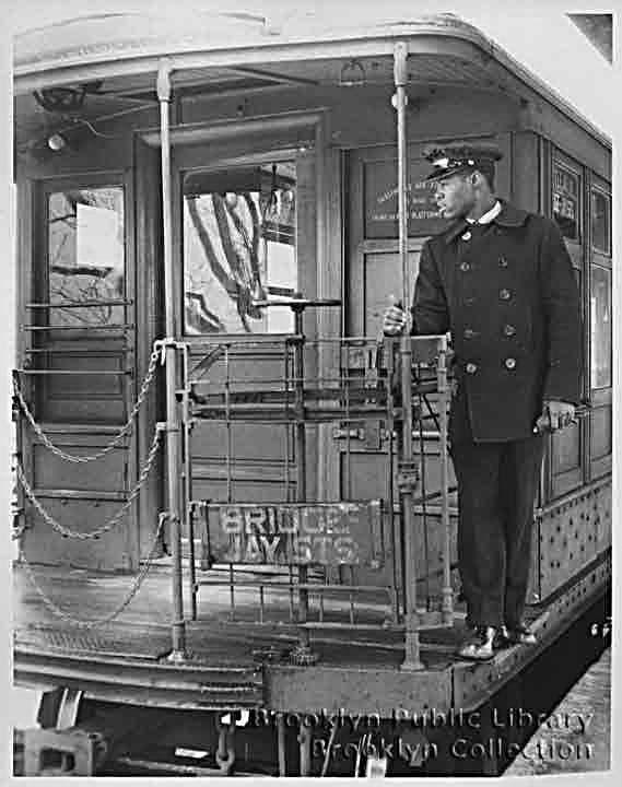 (57k, 569x720)<br><b>Country:</b> United States<br><b>City:</b> New York<br><b>System:</b> New York City Transit<br><b>Line:</b> BMT Myrtle Avenue Line<br><b>Location:</b> Metropolitan Avenue <br><b>Car:</b> BMT Elevated Gate Car  <br><b>Collection of:</b> Brooklyn Public Library (via Herbert Maruska)<br><b>Date:</b> 1958<br><b>Viewed (this week/total):</b> 2 / 3406