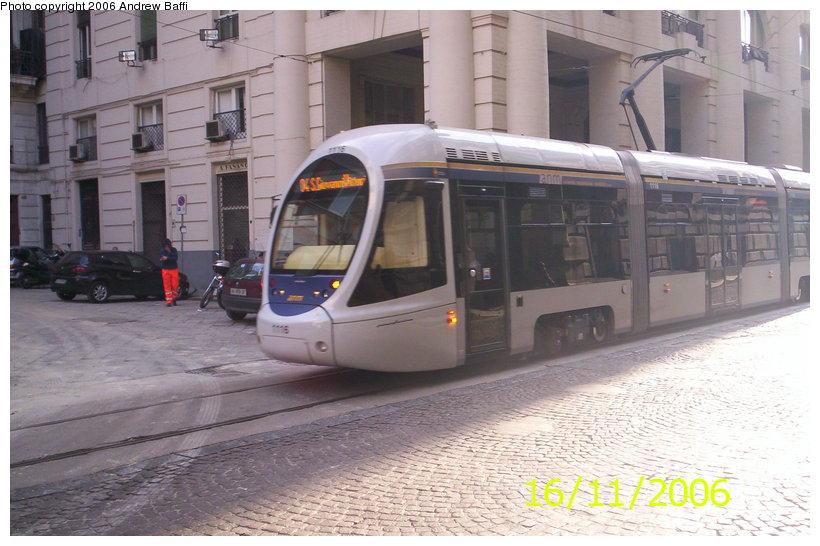 (110k, 820x546)<br><b>Country:</b> Italy<br><b>City:</b> Naples<br><b>System:</b> Napoli ATAN<br><b>Car:</b> Naples Tram 1116 <br><b>Photo by:</b> Andrew Baffi<br><b>Date:</b> 11/16/2006<br><b>Viewed (this week/total):</b> 0 / 1505