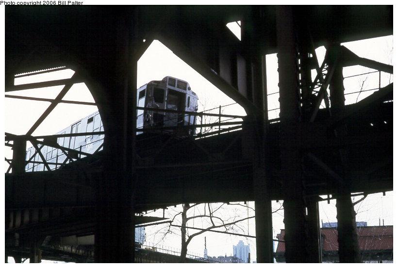 (96k, 820x553)<br><b>Country:</b> United States<br><b>City:</b> New York<br><b>System:</b> New York City Transit<br><b>Line:</b> 3rd Avenue El<br><b>Location:</b> Gun Hill Road <br><b>Photo by:</b> Kenneth Palter<br><b>Collection of:</b> Bill Palter<br><b>Date:</b> 4/1973<br><b>Notes:</b> View of Gun Hill Rd. from street.<br><b>Viewed (this week/total):</b> 0 / 1302