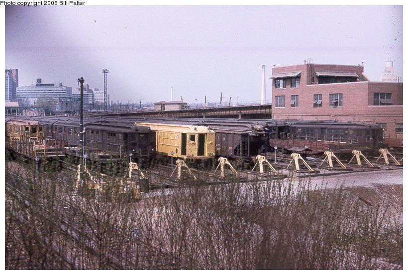(117k, 820x553)<br><b>Country:</b> United States<br><b>City:</b> New York<br><b>System:</b> New York City Transit<br><b>Location:</b> Westchester Yard<br><b>Photo by:</b> Kenneth Palter<br><b>Collection of:</b> Bill Palter<br><b>Date:</b> 6/1966<br><b>Viewed (this week/total):</b> 0 / 1083