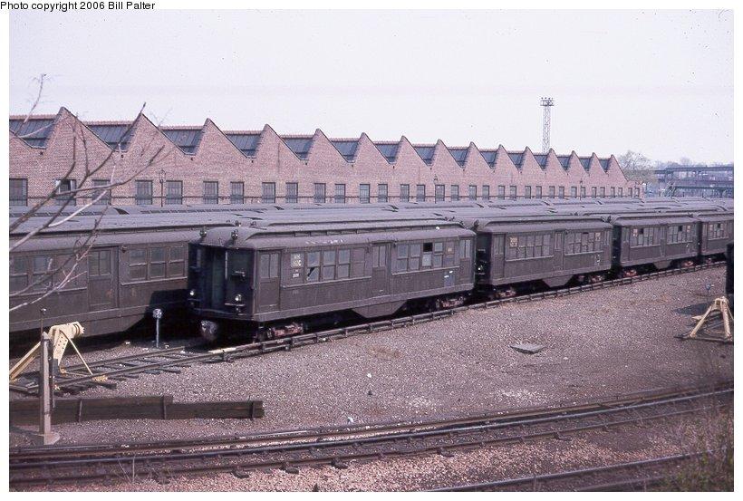 (113k, 820x553)<br><b>Country:</b> United States<br><b>City:</b> New York<br><b>System:</b> New York City Transit<br><b>Location:</b> Westchester Yard<br><b>Car:</b> Low-V  <br><b>Photo by:</b> Kenneth Palter<br><b>Collection of:</b> Bill Palter<br><b>Date:</b> 6/1966<br><b>Viewed (this week/total):</b> 0 / 1759