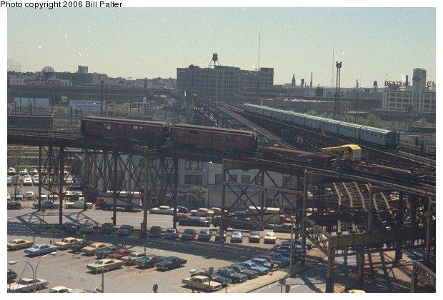 (64k, 620x420)<br><b>Country:</b> United States<br><b>City:</b> New York<br><b>System:</b> New York City Transit<br><b>Line:</b> BMT Astoria Line<br><b>Location:</b> Queensborough Plaza <br><b>Route:</b> Work Service<br><b>Car:</b> Low-V  <br><b>Photo by:</b> Bill Palter<br><b>Viewed (this week/total):</b> 1 / 3581