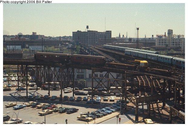 (69k, 620x420)<br><b>Country:</b> United States<br><b>City:</b> New York<br><b>System:</b> New York City Transit<br><b>Line:</b> BMT Astoria Line<br><b>Location:</b> Queensborough Plaza <br><b>Route:</b> Work Service<br><b>Car:</b> Low-V  <br><b>Photo by:</b> Bill Palter<br><b>Viewed (this week/total):</b> 1 / 2772